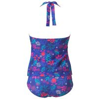 Beachcomber Halter Neck Tankini with Moulded Cups - Red